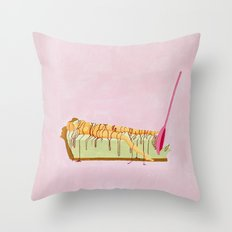 Pink Pie Throw Pillow