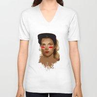 jewish V-neck T-shirts featuring Jewish Vengeance by Ashley