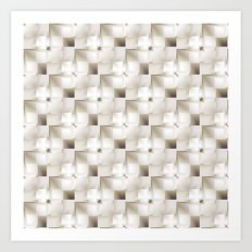 white 3D pattern Art Print