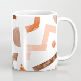 geometric shapes peach Coffee Mug