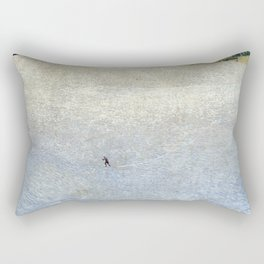 Plight of the Lonely Skier, Snowy Alpine Landscape by Cuno Amiet Rectangular Pillow