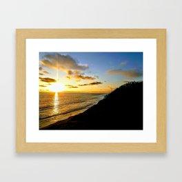 Coastal Last Light Framed Art Print
