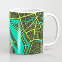 cities Mugs featuring 2nd Biggest Cities Are Cities Too - Rotterdam by Bakus