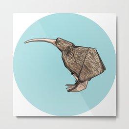 Kiwi origami Metal Print