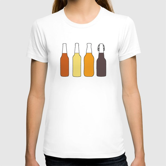 Vintage Beer Bottles T-shirt