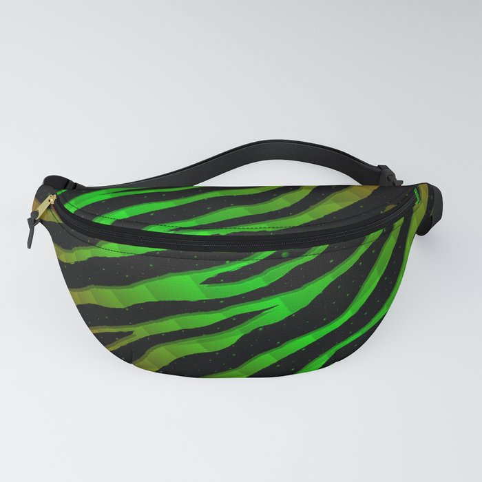 Ripped SpaceTime Stripes - Red/Green Fanny Pack
