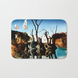 Salvador Dali Swans Reflecting Elephants 1937 Artwork for Wall Art, Prints, Posters, Tshirts, Men, Women, Kids Bath Mat