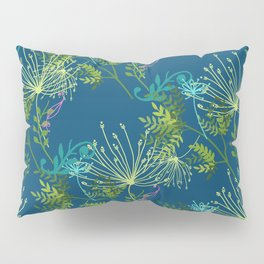 Botanical with Henna Border Navy Pillow Sham