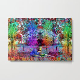 An Early Visit From The Frost Fairy (autumn) Metal Print