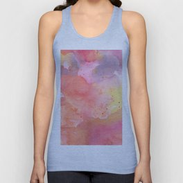 Sunset Color Palette Abstract Watercolor Painting Unisex Tank Top