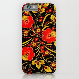 Russian khokhloma iPhone Case