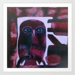Owl Drive Art Print