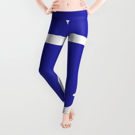 Anchor (White & Navy Blue) Leggings