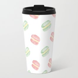 Pistachio and Rose Macarons Travel Mug
