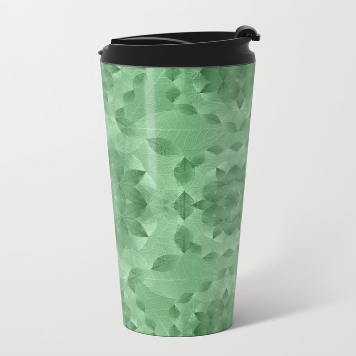 The Flower of Life - Leaf Pattern 3 Metal Travel Mug