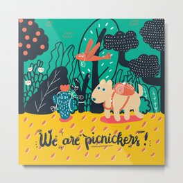 We are picnickers Metal Print