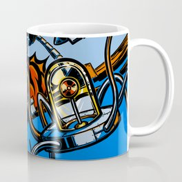 Retro Robot and Flying Saucers Coffee Mug