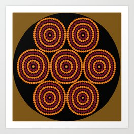 Aboriginal Cycle Style Painting Art Print