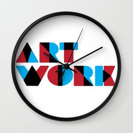 Artwork (Overrint Series) Wall Clock