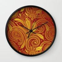 fancy Wall Clocks featuring Fancy by Ale Ibanez