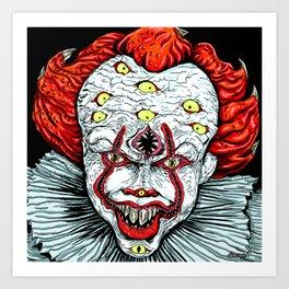 Scary Clown Art Print