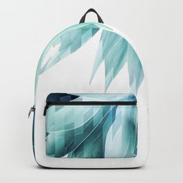 Agave geo fringe - teal Backpack