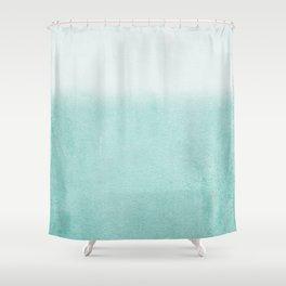 FADING AQUA Shower Curtain