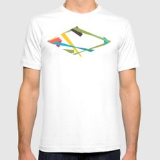 Banners MEDIUM White Mens Fitted Tee