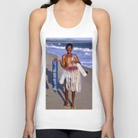 asia Tank Tops featuring FISHERMAN - BEACH - VIETNAM - ASIA by CAPTAINSILVA