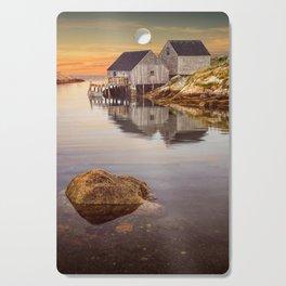 Peggy's Cove Harbor at Sunset in Nova Scotia Cutting Board