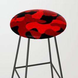 Black and Red Camo abstract Bar Stool