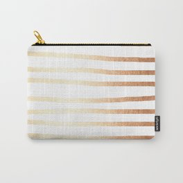 Simply Drawn Stripes Deep Bronze Amber Carry-All Pouch