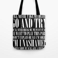 Black Parade Tote Bag