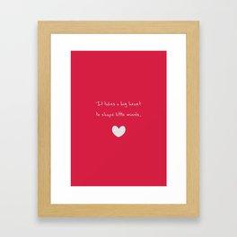 {Teacher - Big Heart} Framed Art Print