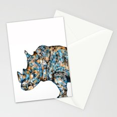 Rhino-no text Stationery Cards