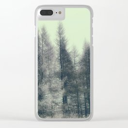 Vintage Trees Clear iPhone Case