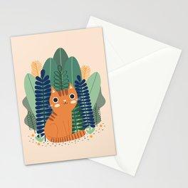 Orange Garden Cat Stationery Cards