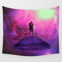 Kiss into the universe Wall Tapestry