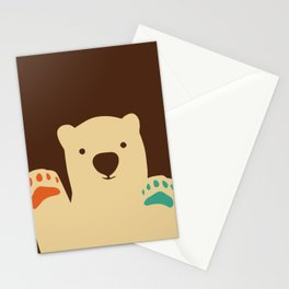 Polar bear paws Stationery Cards