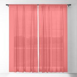 Matching Dark Coral Sheer Curtain