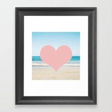 Heart Beach  Framed Art Print