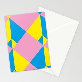 Cool polygons, and squares, and things that looks 3d but they aren't, and tiny mistakes in R corner. Stationery Cards