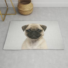 Pug Puppy - Colorful Rug