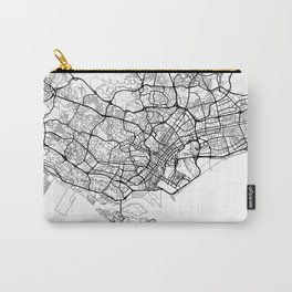 Singapore Map White Carry-All Pouch