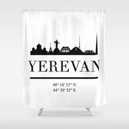 YEREVAN ARMENIA BLACK SILHOUETTE SKYLINE ART Shower Curtain
