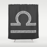 libra Shower Curtains featuring Libra by David Zydd