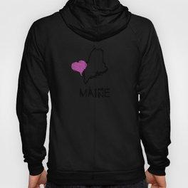 Love Maine State Sketch USA Art Design Hoody