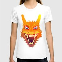 charizard T-shirts featuring Flaming Dragon by Head Glitch