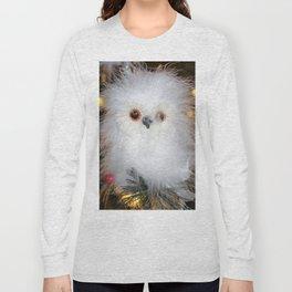 Cute fluffy Snow Owl Long Sleeve T-shirt