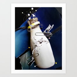 Milky | Collage Art Print